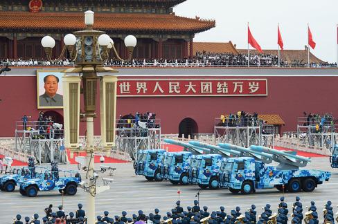中国軍事パレード